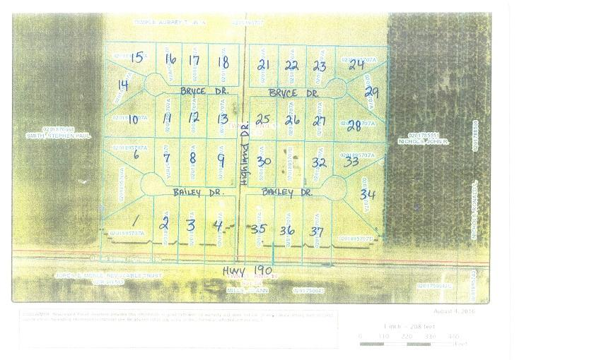 DeRidder land for sale,  Bailey Dr. Lot 2, DeRidder LA - $15,000