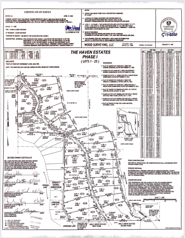 Anacoco land for sale,  Lot 1 Holly Estates Road, Anacoco LA - $50,000
