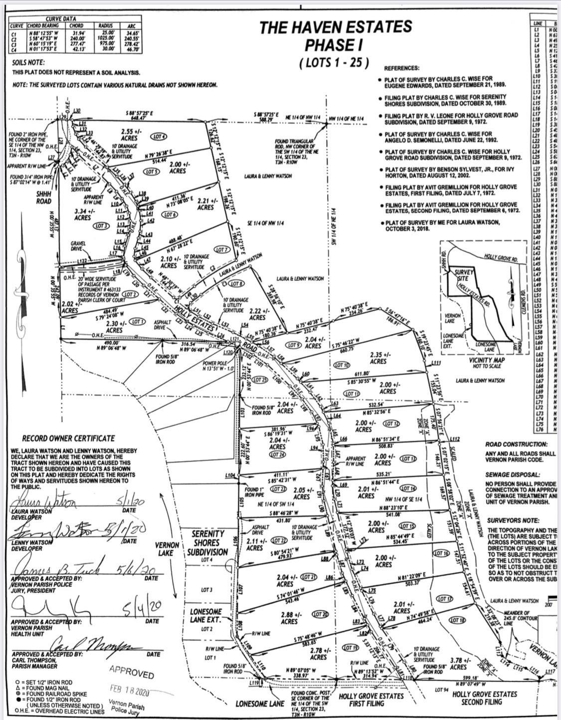Anacoco land for sale,  Lot 2 Holly Estates Road, Anacoco LA - $50,000