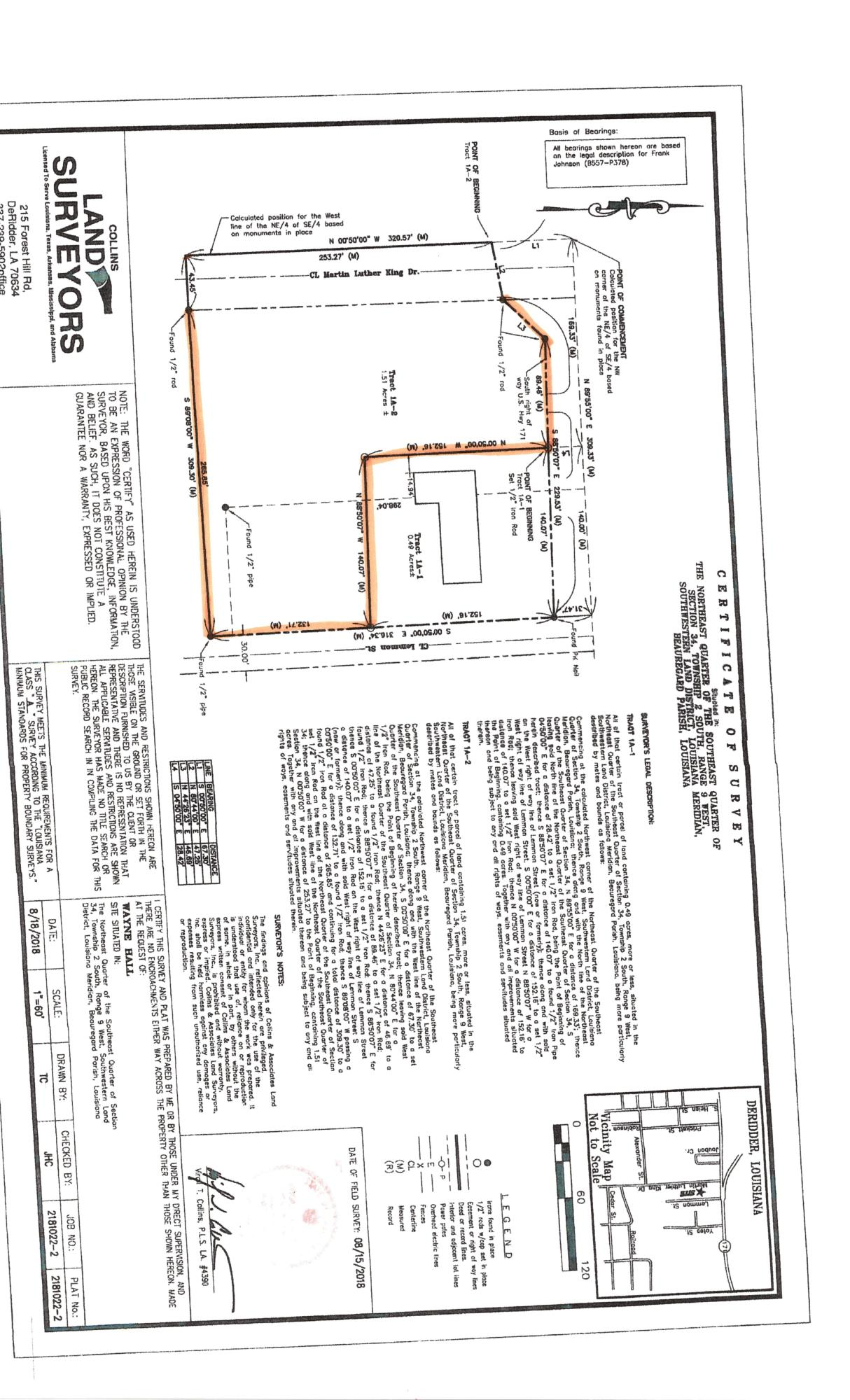 DeRidder land for sale,  TBD E 1ST ST, DeRidder LA - $146,000