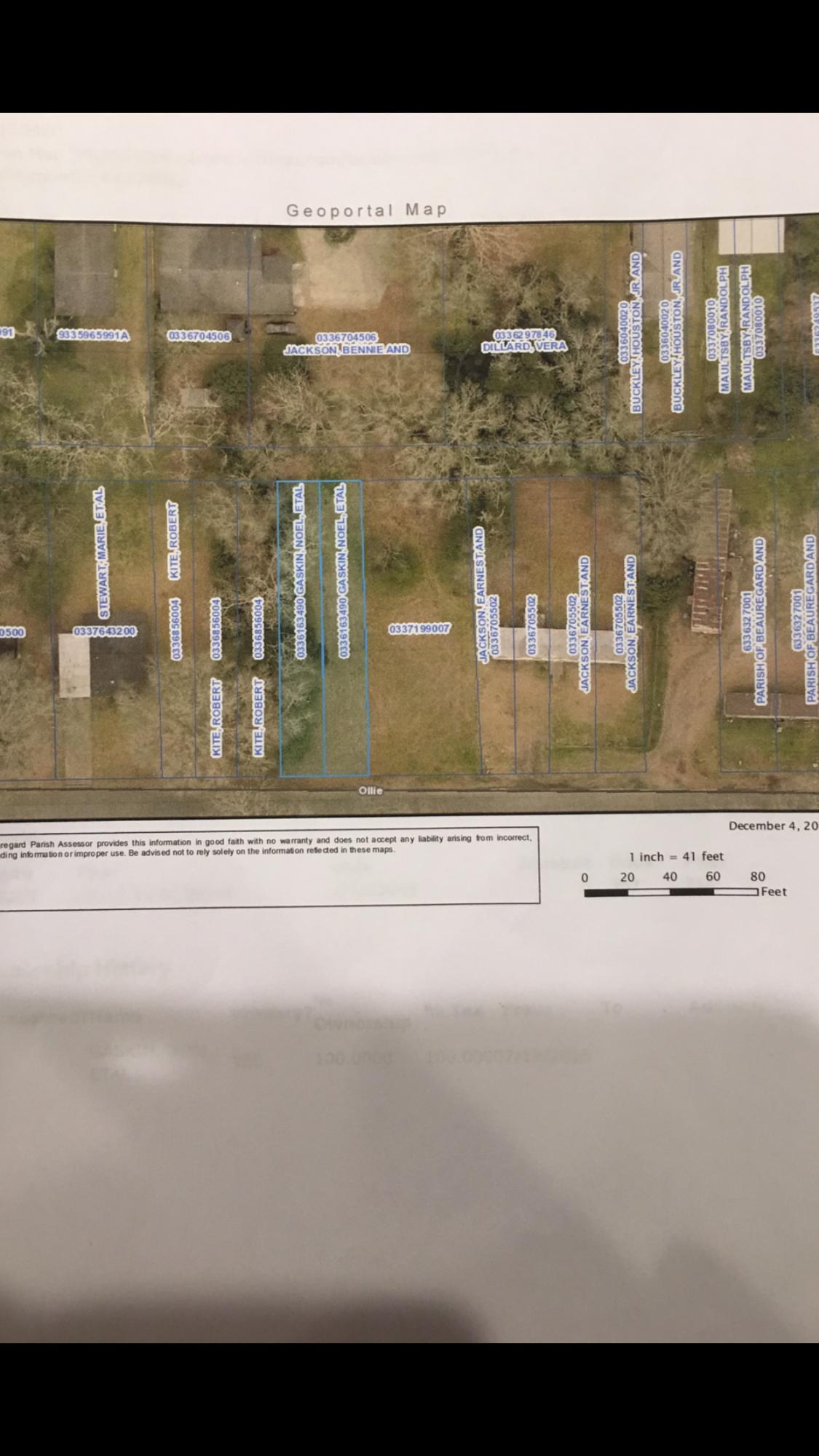 DeRidder land for sale,  TBD OLLIE STREET LOT 28 & 29, DeRidder LA - $7,000