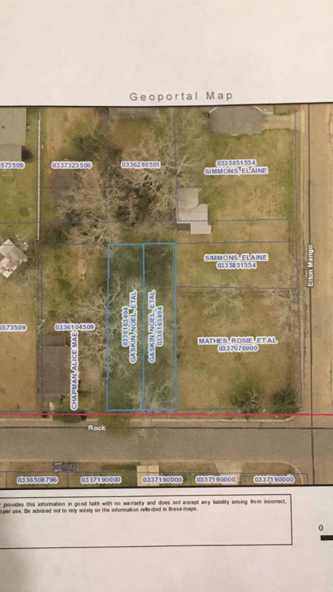DeRidder land for sale,  TBD ROCK STREET LOT 20 & 21, DeRidder LA - $7,000