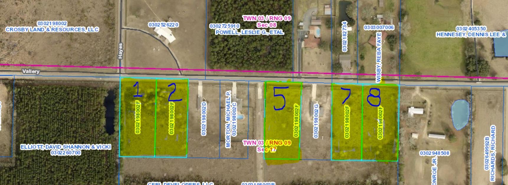 DeRidder land for sale,  Vallery Rd, DeRidder LA - $25,000