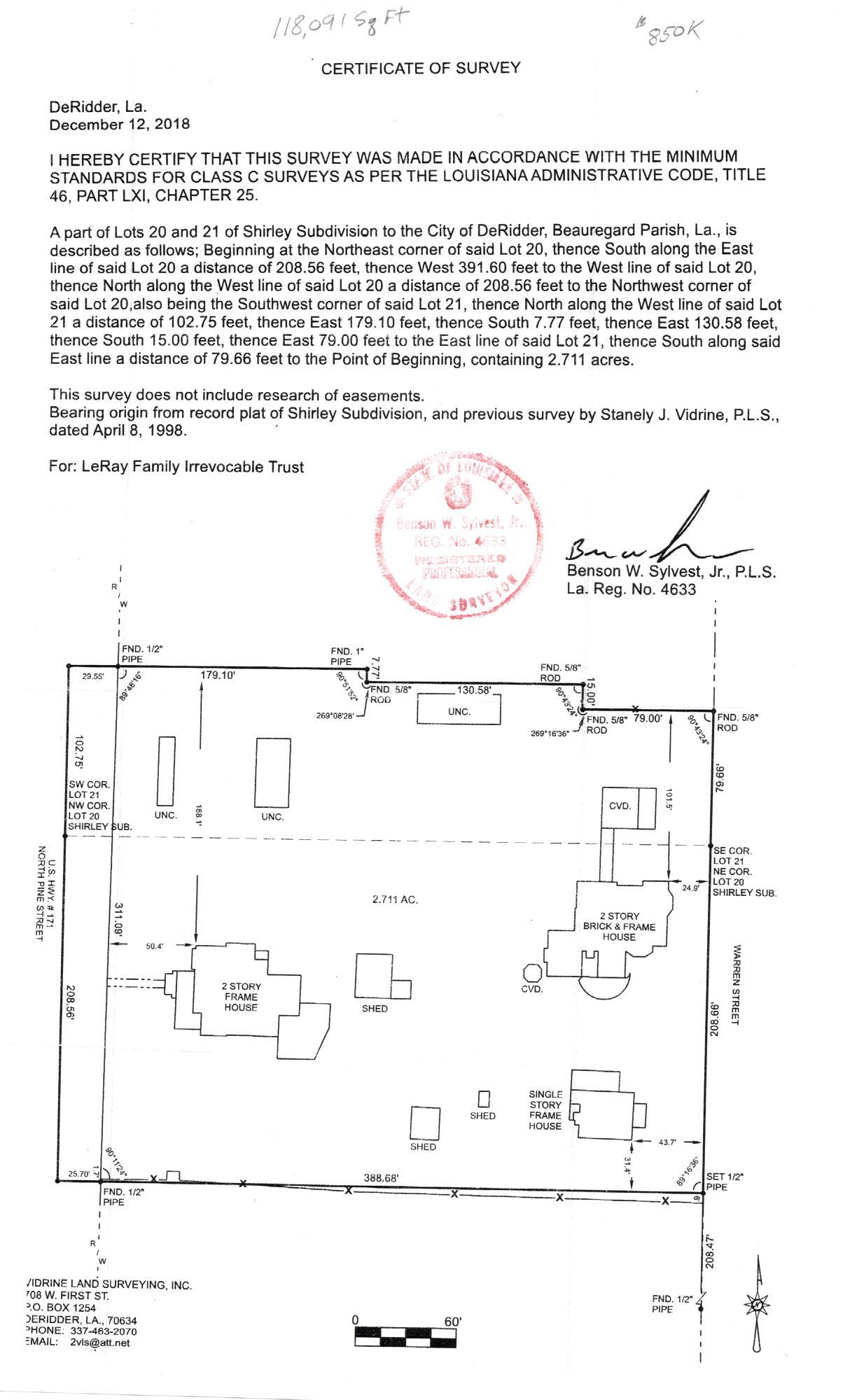 DeRidder commercial property for sale, 426 N PINE ST, DeRidder LA - $850,000