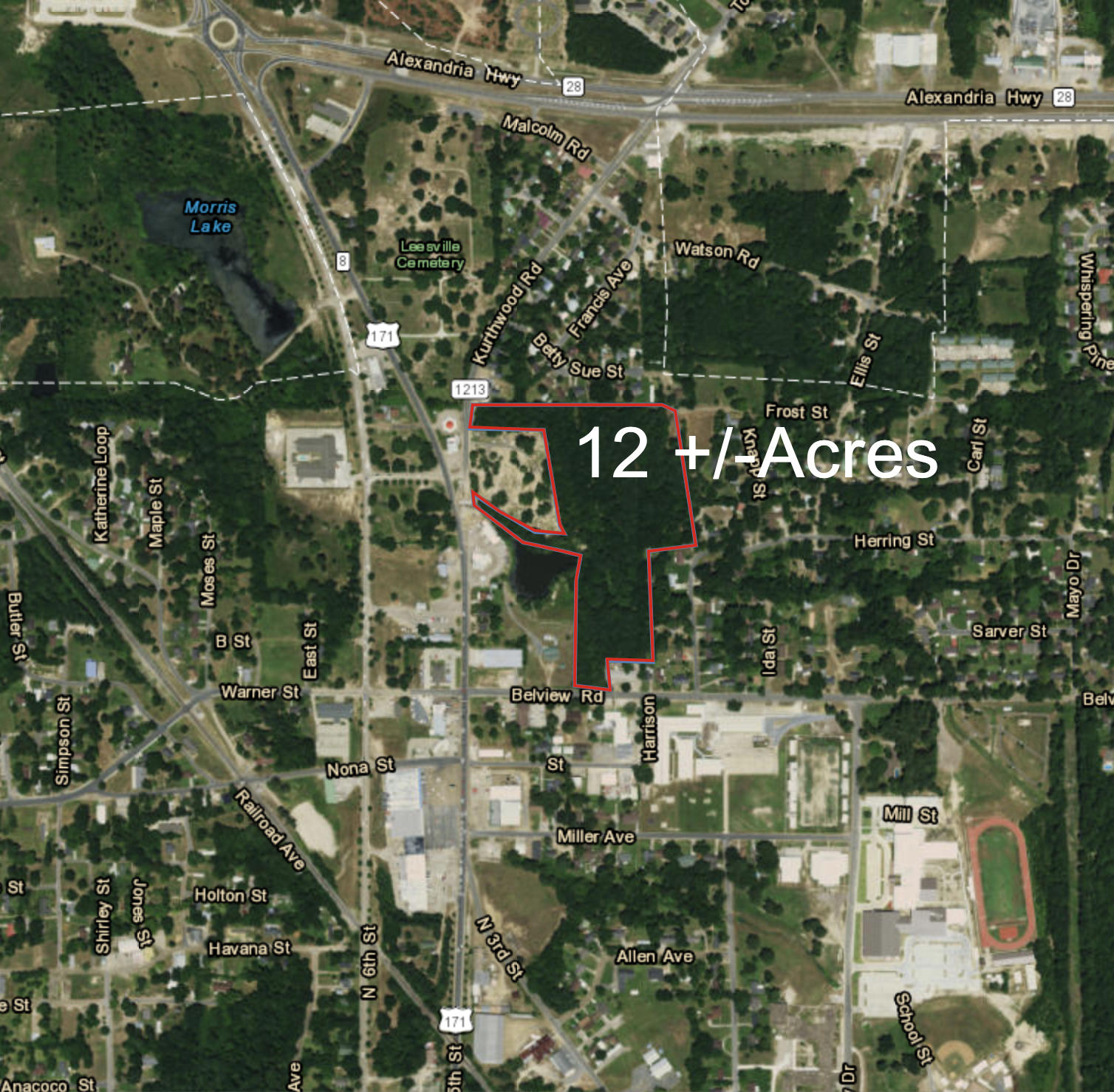 Leesville commercial property for sale, TBD Belview Rd, Leesville LA - $599,000