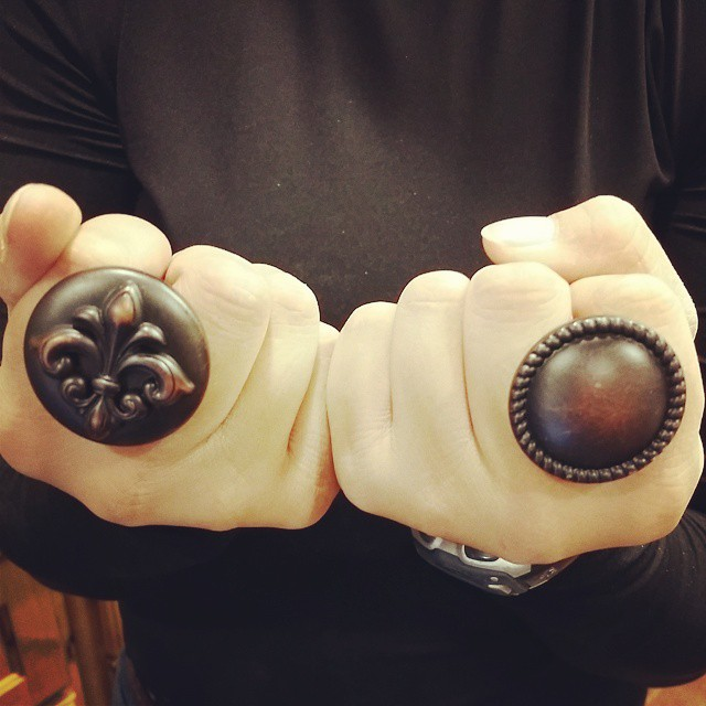 Cool oil rubbed bronze cabinet knobs. OilRubbedBronze knobs CabinetKnobs