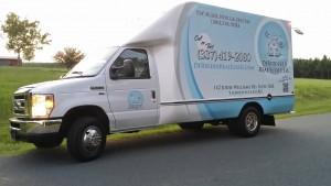 DeRidder Real Estate moving truck
