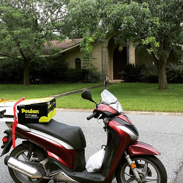 Real estate on a scooter...fun to ride but never tell your friends. DeRidder DeRidderRealEstate
