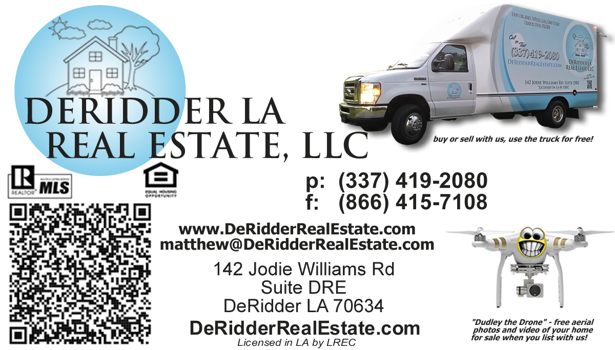 DeRidder Real Estate Business Card