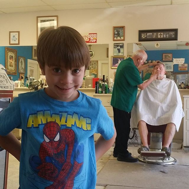 Fourth generation customer of Smitty's Barber Shop  #smittys #smitty #DeRidder #barbershop