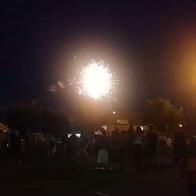 Fireworks show in DeRidder  #DeRidder #4thofjuly #fourthofjuly