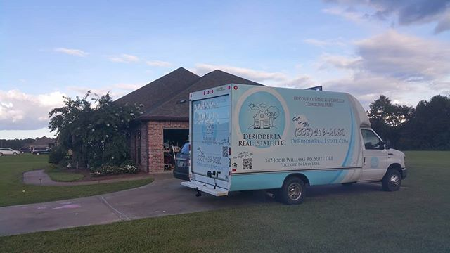 Our free moving van on the scene helping our customers move their stuff from one place to another?  How's that for a mobile pod unit?  If you are in the market to buy or sell a home contact us at (337) 419-2080.  #deridder #leesville #fortpolk #deridderrealestate